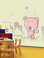 pegatinas de pared removible oso lindo pegatinas pared del dormitorio habitación de los niños de dibujos animados