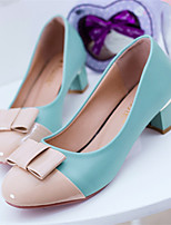 Women's Shoes Chunky Heel Round Toe Pumps/Heels Dress Black/Blue/Pink