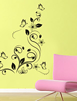 Wall Stickers Wall Decals Style Beautiful Atmosphere Butterfly Flower PVC Wall Stickers
