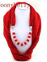 Toonykelly®Women Vintage Look Colorful Cotton Acrylic Neckerchief (1PC)