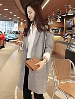 Women's Gray Blouse Long Sleeve