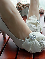 Women's Shoes Leather Low Heel Heels Pumps/Heels Wedding/Party & Evening White