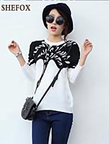 Women's Casual Stretchy Medium Long Sleeve Pullover (Knitwear) SF7B40