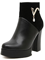 Women's Shoes Platform Platform/Round Toe Boots Casual Black