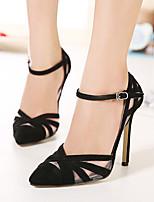 Women's Shoes Fleece Stiletto Heel Pointed Toe Pumps Dress Black