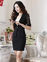 OUNAIOU®Women's Temperament Half Sleeve Suit Blazer(Blazer and Skirts)