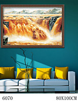 DIY Digital Oil Painting  Large Size Without Frame  Family Fun Painting All By Myself The Yellow River Pentium 6070
