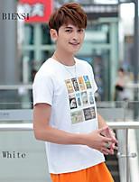 2015 new summer large size Korean cultivating Mens Half Sleeve AF men's Short Sleeve T-Shirt