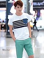 Men's short sleeved t-shirt t-shirt Cotton Mens Korean half sleeve spring summer 2015 slim genuine shirt tide