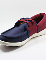 Men's Shoes Casual Canvas Fashion Sneakers Blue/Red/Khaki