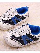 Zapatos de bebé Casual Semicuero Sneakers a la Moda Negro/Blanco/Naranja