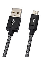 Cwxuan™ Aluminum Alloy High Quality Micro USB to USB 2.0 Cable for cellphone and Portable Device (20cm)