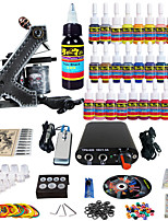 Solong Tattoo Complete Beginner Tattoo Kit 1 Pro Machine Gun 28 Inks Power Supply Needle Grips Tips