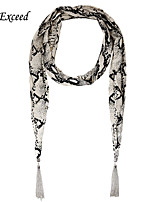 D Exceed  Fashion Multifuction Serpentine Scarf Chiffon Long Scarves Jewellery with Tassles