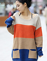 Women's Casual/Work Stretchy Medium Long Sleeve Pullover (Knitwear)SF7B67
