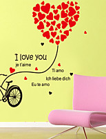 Wall Stickers Wall Decals Style Love Bike PVC Wall Stickers