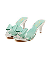 Women's Shoes Rubber Kitten Heel Heels Sandals Casual Green/Pink/White