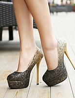 Exquisite Gradients Sparkling Glitter Women's Wedding Stiletto Heel Platform Pumps/Heels Shoes