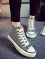 Zapatos de mujer Tela Tacón Plano Comfort/Punta Redonda Sneakers a la Moda Exterior/Casual Negro/Azul/Rojo
