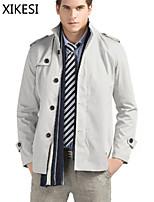 Men's Casual/Work Pure Long Sleeve Regular Jacket (Cotton Blend) XKS7C17