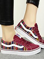 Zapatos de mujer - Tacón Plano - Comfort / Punta Redonda - Planos / Sneakers a la Moda - Exterior / Casual - Tela - Negro / Azul / Rojo