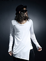 Men's Long Sleeve T-Shirt , Others Casual Pure