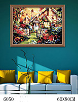 DIY Digital Oil Painting  Large Size Without Frame  Family Fun Painting All By Myself     Warm 6050