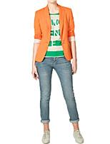 Women's Casual/Work Bright Candy Color Medium Long Sleeve Blazer Coat