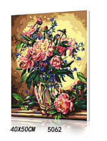 DIY Digital Oil Painting With Solid Wooden Frame Family Fun Painting All By Myself      Baise Vase 5062
