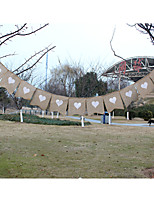 New Arrival Wedding  Hessian Burlap Banner Bunting with Heart
