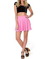 Women's Sweet Fresh Color Pleated Micro-elastic Thin Mini Skirts