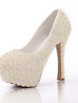 Women's Shoes Stiletto Heel Heels/Closed Toe Pumps/Heels Wedding/Party & Evening White