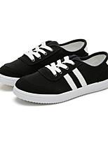 Zapatos de mujer - Tacón Plano - Comfort / Punta Redonda - Zapatos de Deporte - Exterior / Casual / Deporte - Tela - Negro / Rojo / Blanco