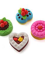 Delicious Cake Shaped Eraser Happy Fancy Eraser Set (Random Color)