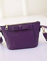 Women 's PU Baguette Shoulder Bag - Purple/Blue/Red/Black