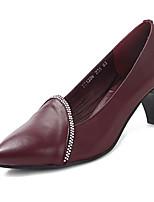 Women's Shoes  Stiletto Heel Heels Pumps/Heels Wedding Black/Burgundy
