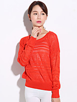 Women's Vintage/Sexy/Beach/Casual/Lace/Cute/Party/Work   Long Sleeve Regular Blouse
