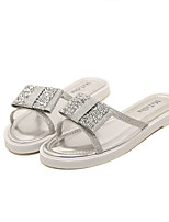 Women's Shoes Tulle Flat Heel Open Toe Slippers Casual Silver/Gold