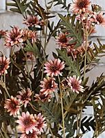 1 mazzetto 18 teste fiori margherita tailandese decorazione della seta artificiale mazzo giardino di casa (colore casuale)