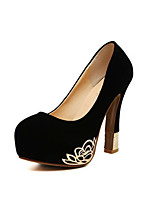 Women's Shoes   Cone Heel Heels/Round Toe Pumps/Heels Party & Evening/Casual Black/Red