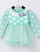 Girl's Cotton/Spandex Dress , Spring/Fall Long Sleeve