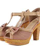 Women's Shoes Chunky Heel Peep Toe/Closed Toe Sandals Outdoor/Dress/Casual Brown/Yellow/Pink