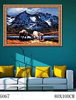 pittura a olio digitale di grande formato diy senza famiglia cornice pittura divertimento tutto da solo le montagne innevate 6067