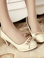 Women's Shoes  Stiletto Heel Heels/Pointed Toe Pumps/Heels Office & Career/Dress Pink/Beige