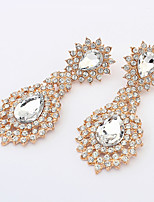 Women's Boutique Water Droplets Alloy Drop Earrings With Rhinestone