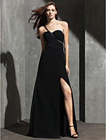 TS Couture Formal Evening Dress - Black Plus Sizes / Petite Sheath/Column One Shoulder Floor-length Spandex