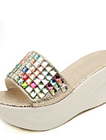 Women's Shoes Wedge Heel Comfort Sandals Casual Blue/Silver/Gold