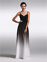 Homecoming Formal Evening Dress Sheath/Column Spaghetti Straps Floor-length Chiffon