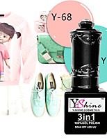 Y-SHINE 2 Pcs Nail Gel Polish Soak Off Uv Gel Nail Polish Y50-68(Powder green& Pink)