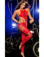 Women's Fashion Hot Patent Leather Ultra Sexy Club Suits Nightwear